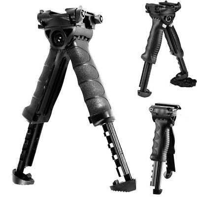 Rotate Adjustable Rail Pistol Mount Fold Foregrip Swivel Bipod For Airsoft Grip