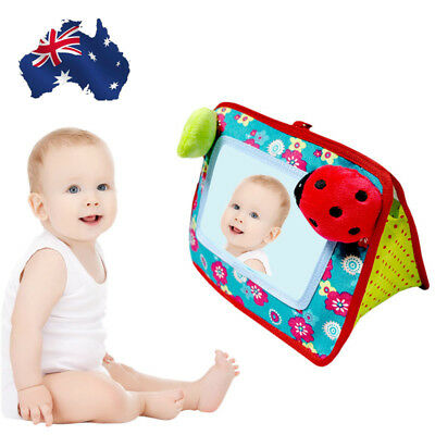 Baby Infant Crib Hanging Stroller Cot Cognitive Mirror Hand Bell Pushchair Toy