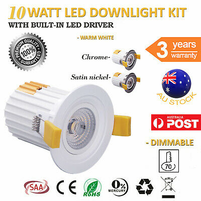 LED Down Light COB with Spot Lens 10W Dimmable 3000K Warm White