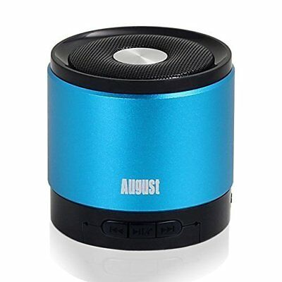 August MS425 Portable Bluetooth Wireless Speaker with Microphone