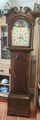 Antique 8 Day Grandfather Clock, T Hoyes, Kelso - Delivery Arranged