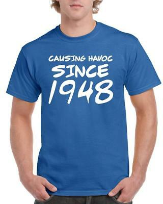 21st 30th 40th 50th 60th 70th 80th Funny Birthday Gift T-Shirt Causing Havoc Tee