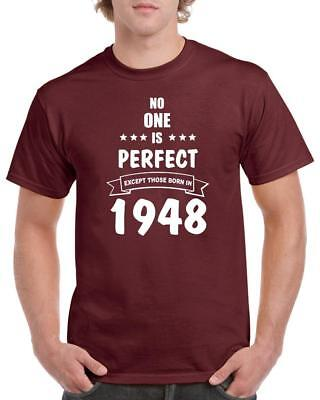 21st 30th 40th 50th 60th 70th 80th Funny Birthday Gift T-Shirt No One Is Perfect