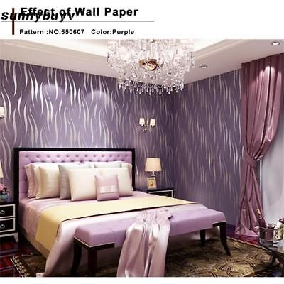3D Embossed Flocking Textured Wallpaper Roll TV wall Background hotel Decor new