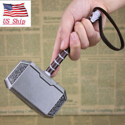 US Ship 20cm Hero The Avengers Thor Hammer Peter Metal Alloy Cosplay Props Gifts