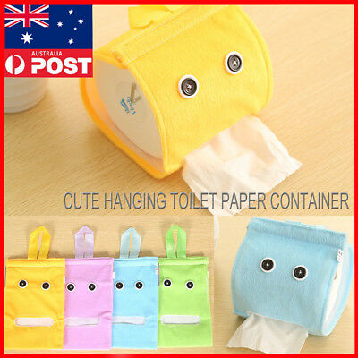 Cute Hanging Toilet Paper Container Portable Tissue Holder Storage Box Bags Home
