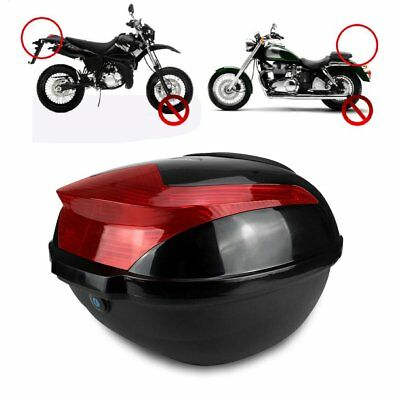 Motorcycle Tail Box Luggage Trunk Top Case Touring Scooter Cruiser Dirt Bike ^