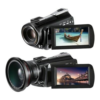 Ordro AC5 4K UHD WiFi 12X Zoom 24MP Touch Screen Digital Video Camera Camcorder