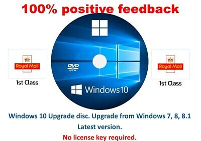 Windows 10 upgrade from win 7, 8 or 8.1.to windows 10 no license needed 32bit