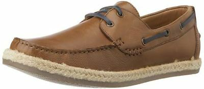 Mens Ex Dune Bunting Leather Boat Deck Casual Smart Espadrille Loafers Shoes Siz