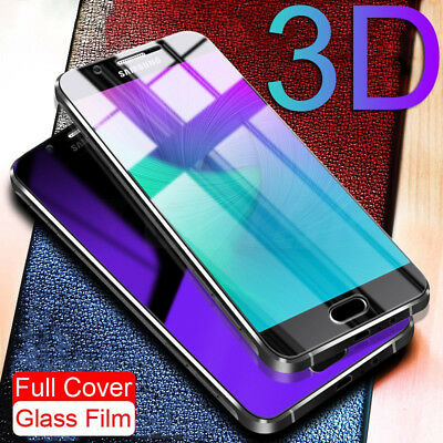 Full Cover Tempered Glass 3D Curved Screen Protector For iPhone 7 8 6S Plus X 5S
