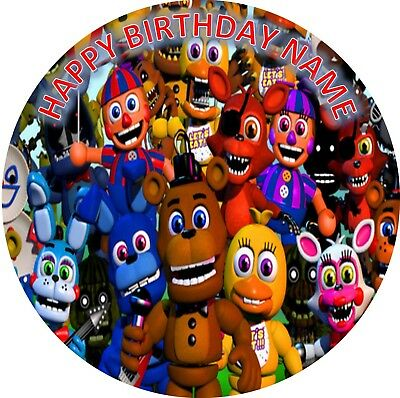 Five Nights At Freddys 19Cm Edible Party Image Cake Topper