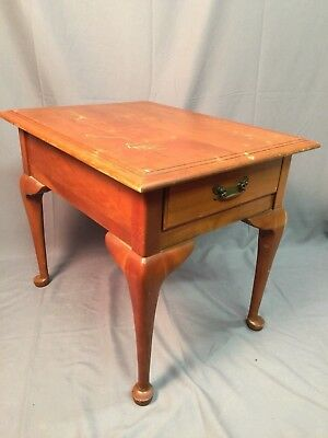 Harden Solid Cherry Queen Anne Vintage Nightstand Accent End Table Made In USA