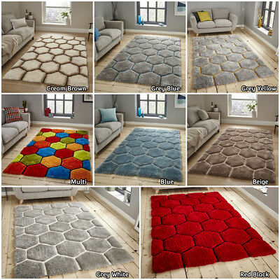 Think Modern In Small Extra Large Designer Soft Hand Carved Multi Acrylic Rug