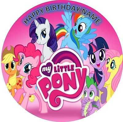 MY LITTLE PONY BIRTHDAY Personalised Edible Icing Cake Topper Decoration Images