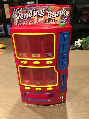 Mars M&M's Vending Bank 2004 Twix, Snickers, Skittles, M&M's, Snickers,CDI Toys