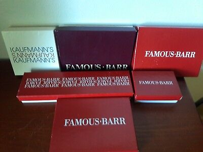 Vtg Famous Barr/Kaufmann's dept store jewelry /gift boxes Retro-lot of 6