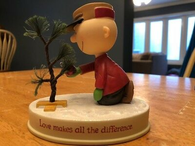 Charlie Brown Love Makes All The Difference Hallmark Figurine - out of box