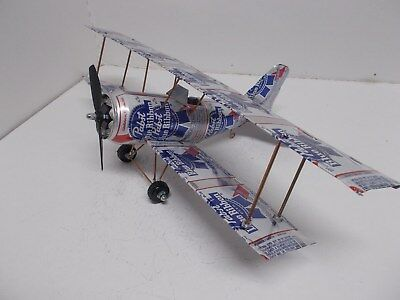 Beer can Aluminum handcrafted airplane/PABST BLUE RIBBON(BI-PLANE)