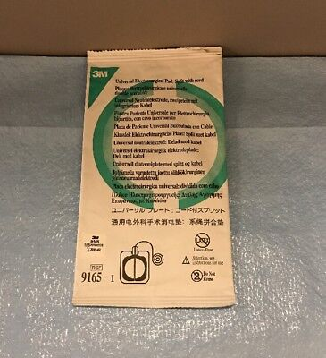 3M 9165 Universal Electrosurgical Pad: Split with cord - New 02/19 - 1 each