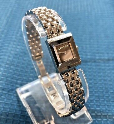 67465e28383 Authentic GUCCI G-Frame 128.5 Stainless Small Women s Wrist Watch - FREE  SHIP