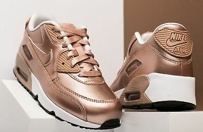 5df730506ae9 New In Box Nike Air Max 90 Girls Size 12 C Shoes Liquid Red Bronze Metallic