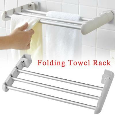 Wall-mounted Folding Airer Drying Rack Towel Rack Laundry Hanger Clothes Dryer