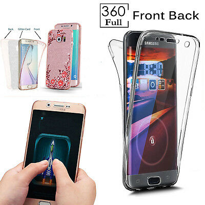 For Samsung Galaxy S5 S6 S7 S8 S9+ J3 A3 360 Silicone Protective Gel Case Cover