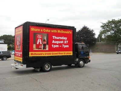Mobile Advertising Truck, 14'x8' Billboard Truck Isuzu NPR  Diesel Engine 2003