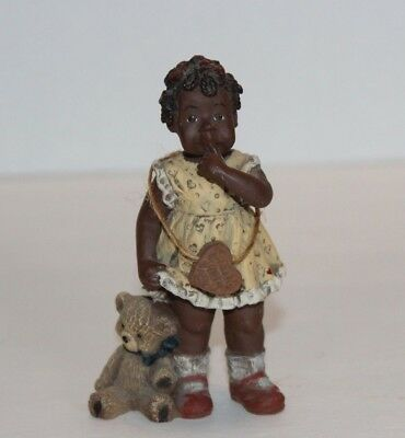 Sarah's Attic Limited Edition #3349 Tillie Girl Holding Bear Figurine Ship FREE