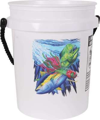TackleDirect TDMWHT 5 Gallon Bucket Mahi Tuna Lure White with Black Rope Handle