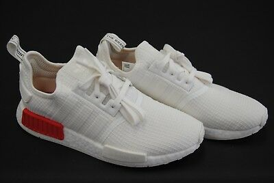 online store bfd78 439ba [B37619] NEW MEN'S Adidas Originals Nmd_R1 Off White Lush Red Ripstop Adm271