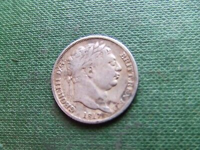 George Iii. 1817, Silver Sixpence.    Nice Condition
