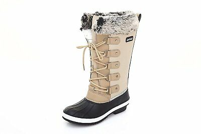 Sand Storm Womens Winter Snow Boots Tall - Insulated Lace-up Closure...