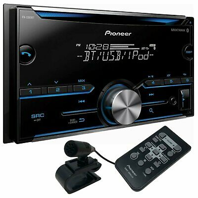 NEW Pioneer FH-S501BT Double Din Bluetooth CD Receiver with Remote and Mic