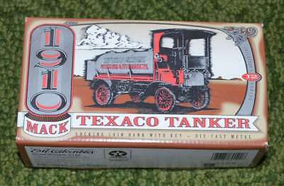 Texaco - 1910 Mack Tanker Metal Bank with Key - Series 12 - New, Never Opened