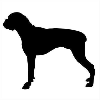 Boxer Small Black Vinyl Decal - Free Shipping ASAP