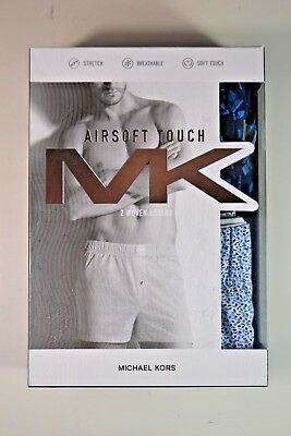 Nib Mens Michael Kors Airsoft Touch Woven Boxer Underwear 2 Pack Size S-Xl
