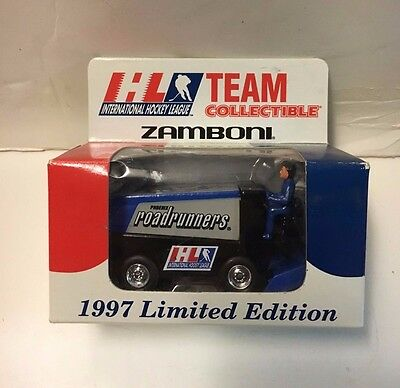 1997 Phoenix Roadrunners Mini Team Zamboni IHL NIB
