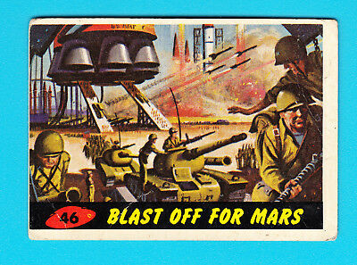1962 Bubbles Inc Mars Attacks #46 Blast Off For Mars orig