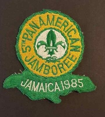 VINTAGE BSA / BOY SCOUT PATCH / 5th PAN AMERICAN JAMBOREE JAMAICA 1985