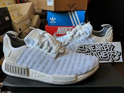 4b68d6645dd90 Adidas NMD_R1 Nomad Boost The Brand With 3 Three Stripes Whiteout White  S76518