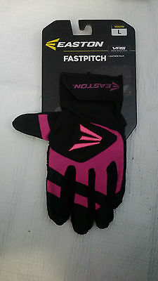 Easton FastPitch Leather Palm Youth L Batting Gloves Style 7018901 VRS MSRP