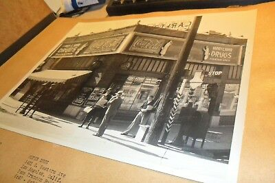 8/10 Black &white Coca Cola Store Front From Salesman Book Soper Drugs L.a.
