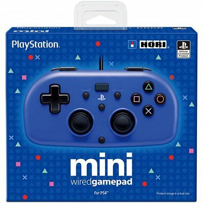 Hori Mini Wired Gamepad Controller BLUE for Sony PlayStation 4 PS4 NEW SEALED