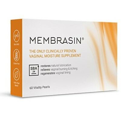 Membrasin Vaginal Dryness Natural Moisture Supplement Lubrication Burn Itch New