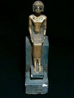 RARE ANCIENT ANTIQUE EGYPTIAN GOD STATUE Imhoteb STONE 2630-2611 BC
