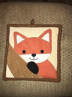 2 Lambs & Ivy Plush Soft Wall Hangings Woodland Creatures Fox & Racoon