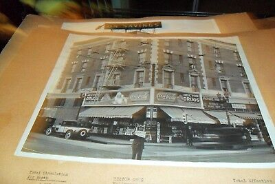 8/10 Black & White Coca Cola Store Front From Salesman Book Rector Drugs L.a