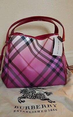2f8e4b23ecb2 NWT Burberry Ombre Supernova Check Coated Canvas Bilmore Shoulder Bag Hobo